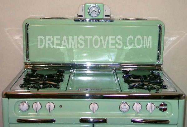 Best 1952 Wedgewood Double Oven In Mint Green Closed Condiment 400 x 300