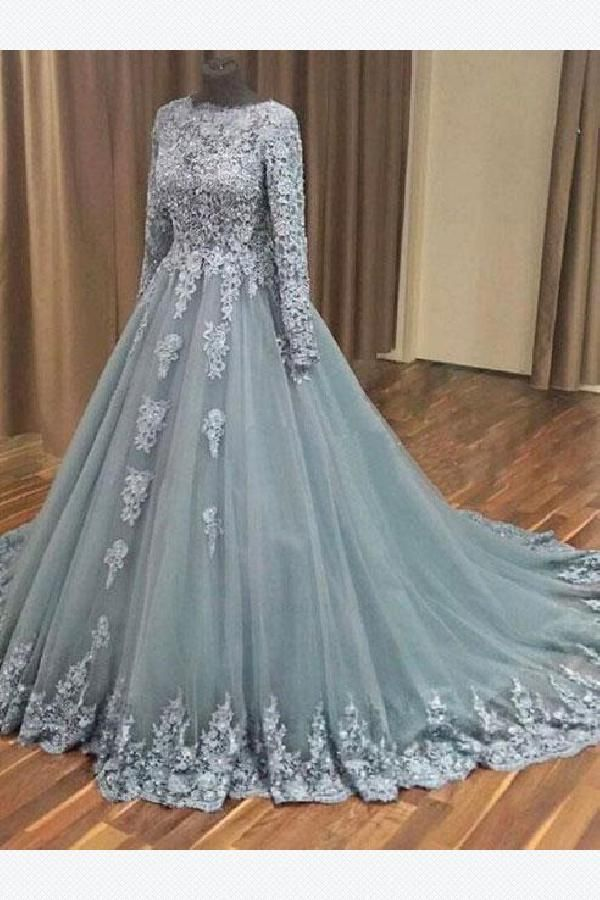 37ee49c90f3 Custom Made Light A-Line Prom Dress
