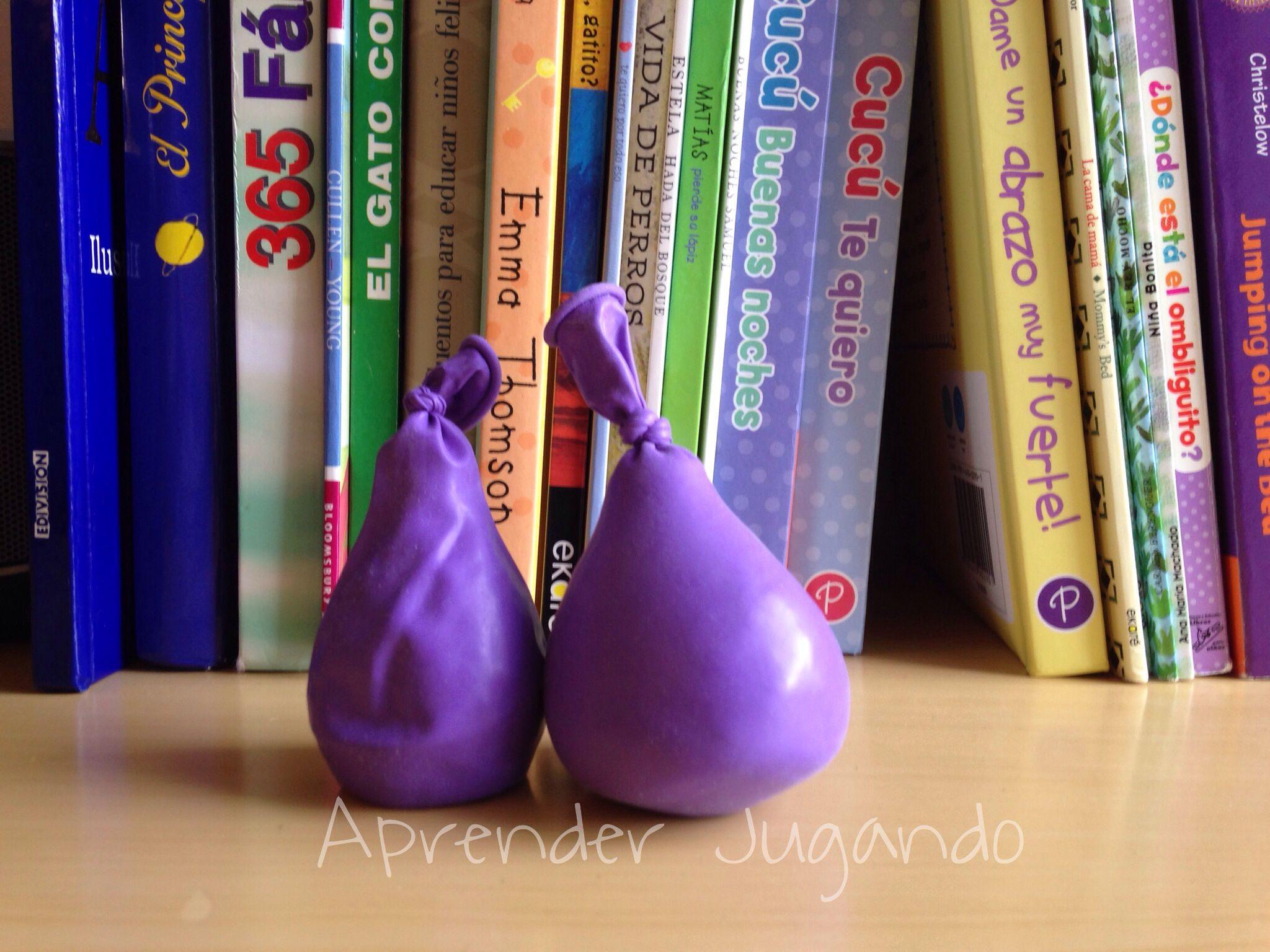 Actv sensorial, rellena globos con diferentes materiales: arroz, harina