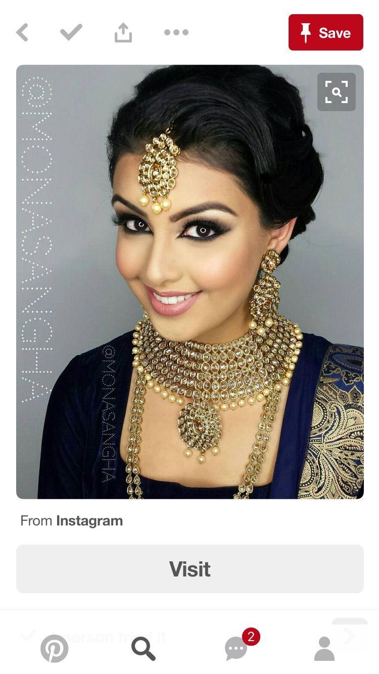 Pin by Rakhi Rani on Makeup Indian wedding makeup