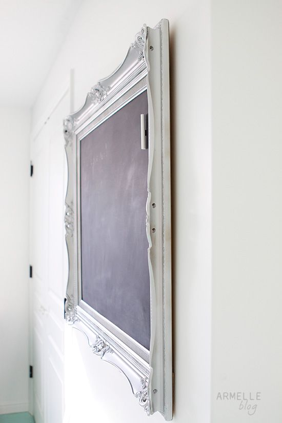 how to make a magnetic chalkboard with a frame sheet metal and chalkboard paint