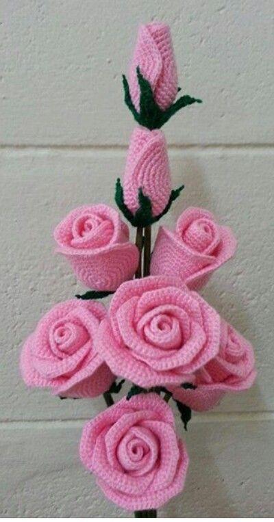 Gorgeous Crochet Roses Diagram Crochet Pinterest Crochet