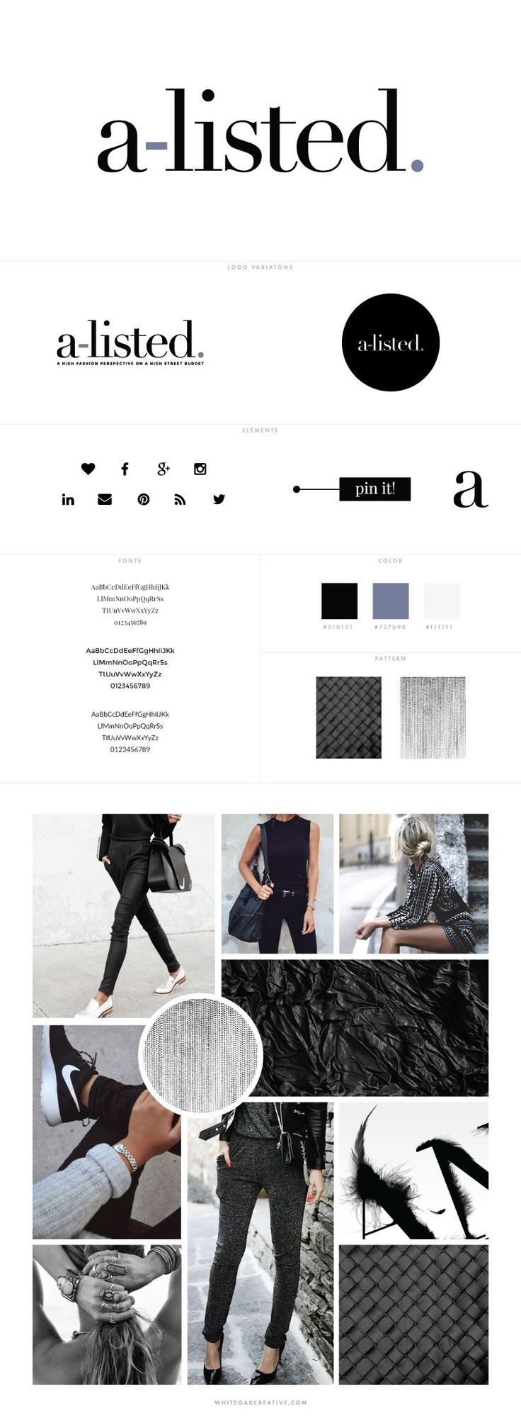 AListed Fashion Blog Design by White Oak Creative logo
