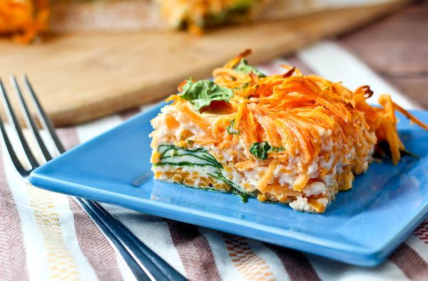Egg White Breakfast Bake With Sweet Potato And Spinach Recipe