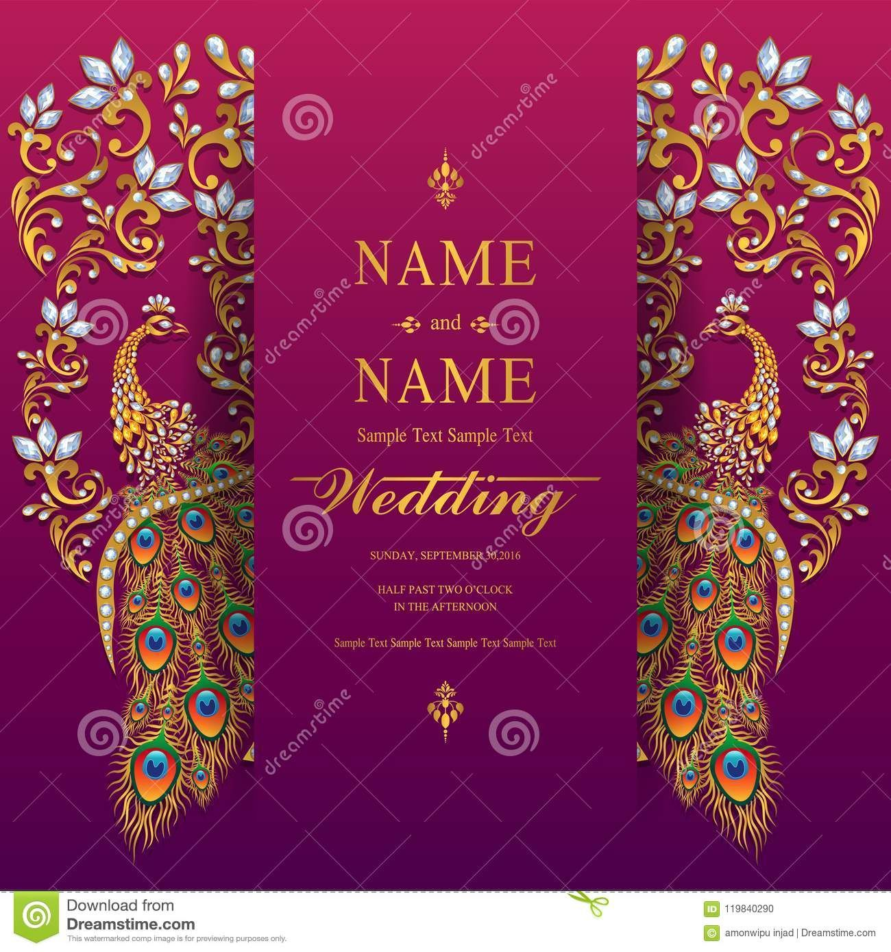 Wedding Invitation Card Templates Stock Vector Inside Indian Wedding Cards Design Templates In 2020 Wedding Card Design Wedding Invitation Card Template Indian Wedding Cards