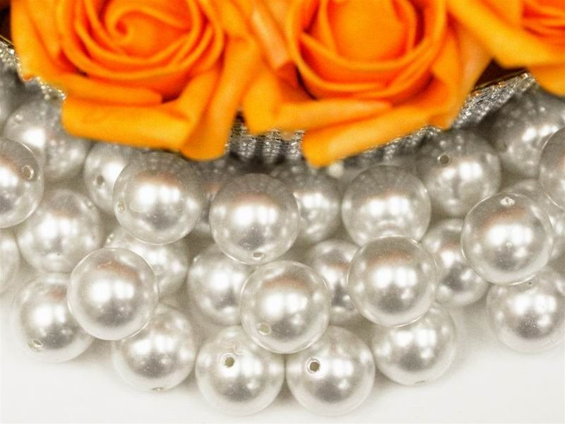 20mm Pearls (EXTRA LARGE) - White 120/pk