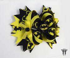 BATMAN Boutique Stacked Over The Top Hair Bow Tulle BATGIRL Superhero Comic