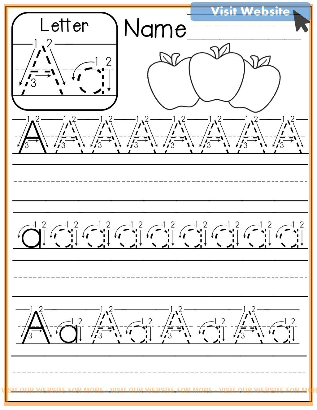 Practice Sheets For Excel In 2020 Kindergarten Writing Alphabet Preschool Preschool Learning
