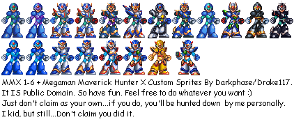 Megaman X Armors 1 6 By Drake117 Png 422 175 Mega Man Ninja Shadow Maverick Hunter