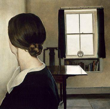 """Michael Taylor, """"Hair Bun"""" (1976), oil on canvas."""