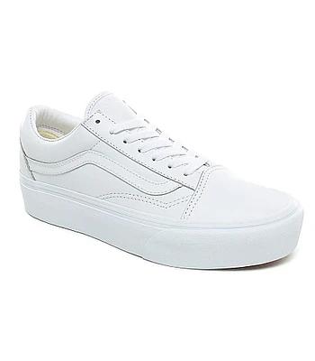 topánky Vans Old Skool Platform - Leather/True White/True ...
