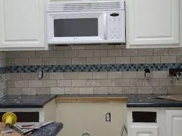 Grey Backsplash With Blue Accent Over Range Google Search White Subway Tile Kitchen White Subway Tiles Kitchen Backsplash Subway Tile Backsplash Kitchen