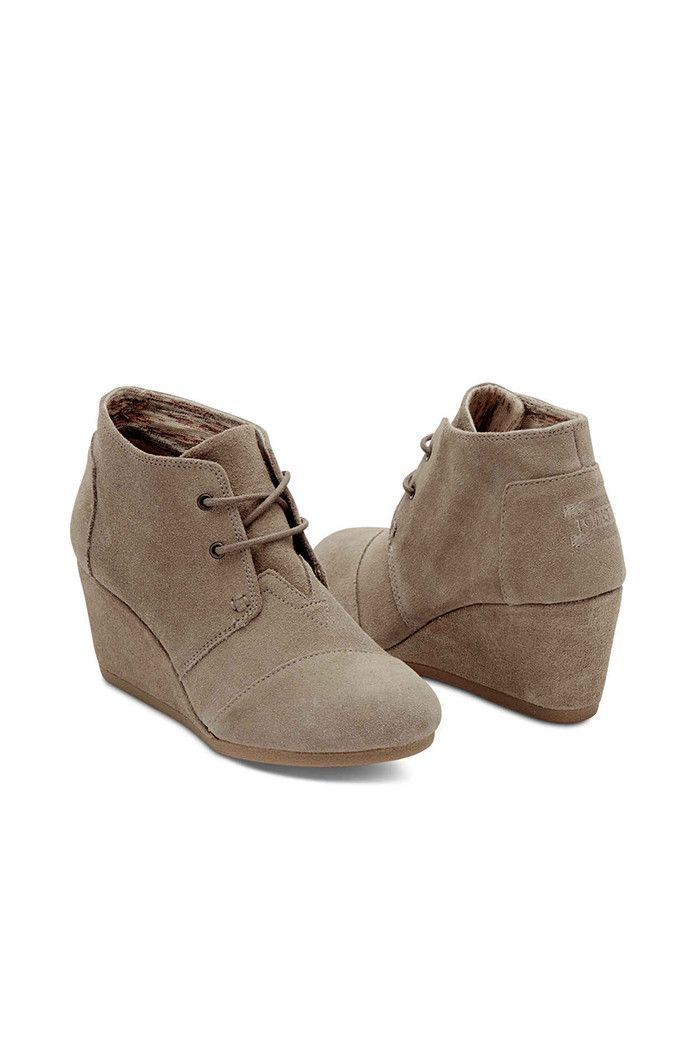 df617d2c065 Taupe Suede Desert Wedge. Taupe Suede Desert Wedge Toms ...
