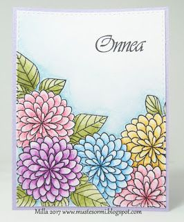 Mustesormi: Kukkia, kukkia - Flowers, flowers