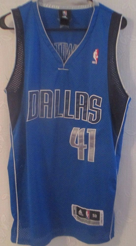 7dfadc7cb37 Dallas Mavericks  41 Dirk Nowitzki Jersey Shirt Basketball NBA Adidas Sz 50   adidas  DallasMavericks