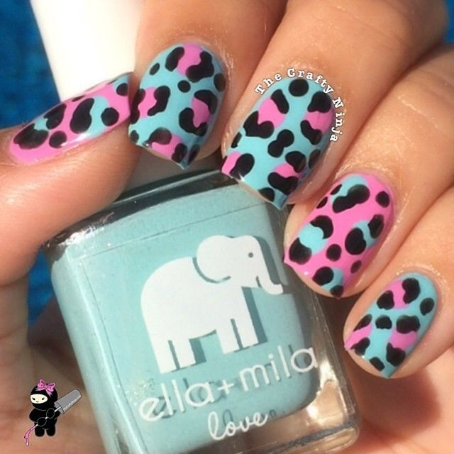 We are loving these leopard inspired nails by the very talented ...