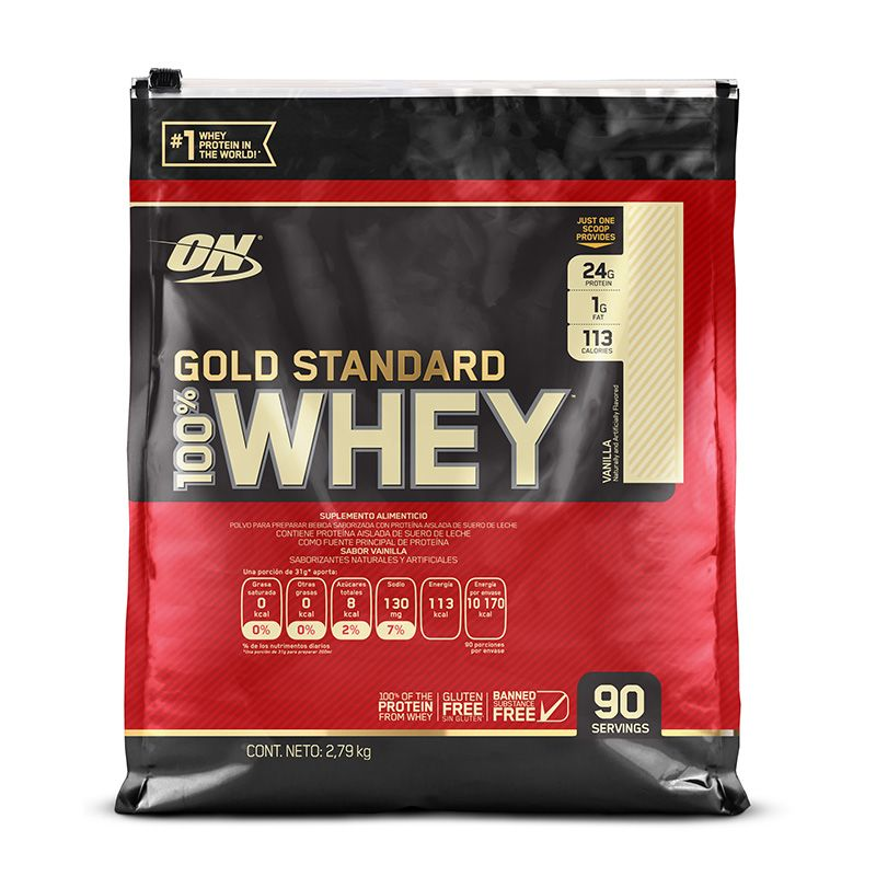 Proteina Sabor Vainilla Gold Standard Whey 2 7kg Whey Protein