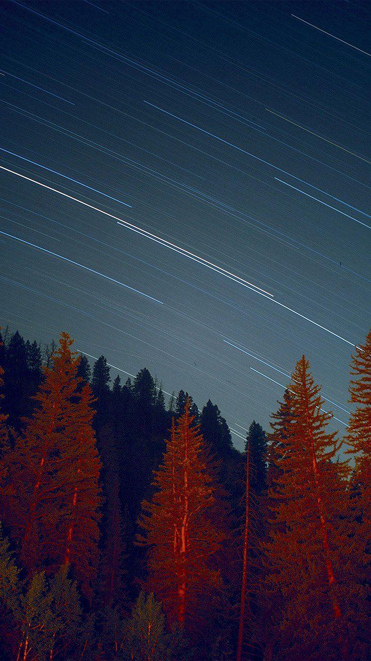 Night Wood Mountain Star Sky Nature Wallpaper Hd Iphone Nature Wallpaper Star Sky Wallpaper