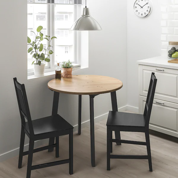 Gamlared Stefan Table And 2 Chairs Light Antique Stain Brown Black Ikea In 2020 Dining Room Small Small Kitchen Tables Small Dining Table
