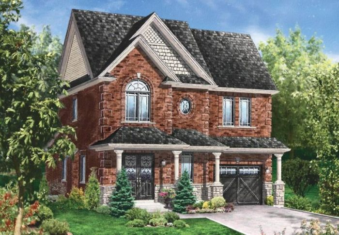 Rock Brick Homes Brand New Previn Court All Brick Stone Homes In Alliston In Alliston Stone Houses House Exterior Brick And Stone