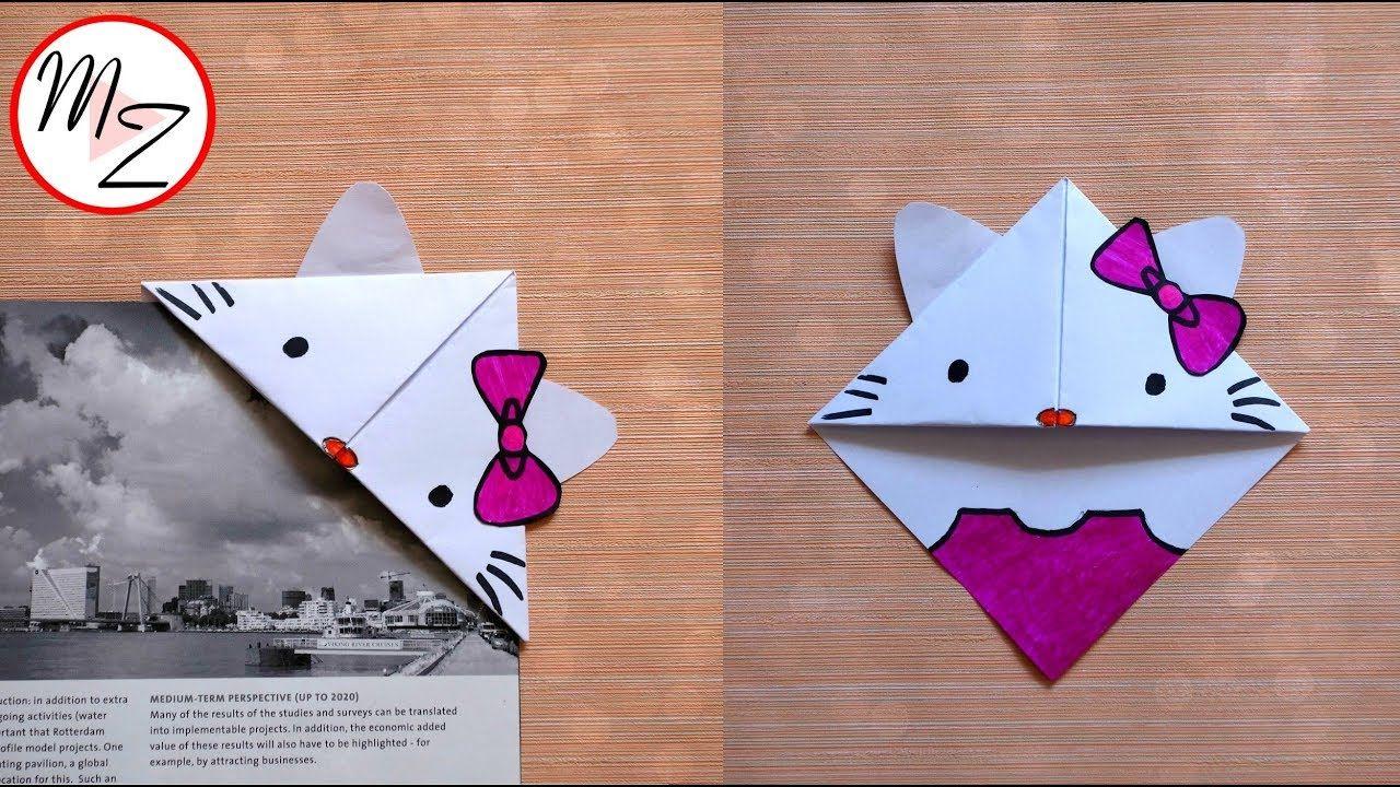 kawaii bookmarks diy : how to make a hello kitty bookmark corner