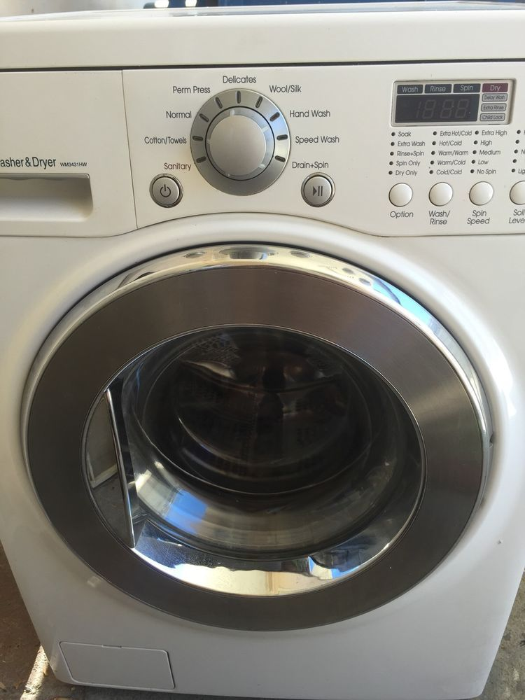 Lg All In One Combo Washer Dryer Wm3431hm 24 Wide Ventless 120v Lg Washer Dryer Combo Washer And Dryer All In One