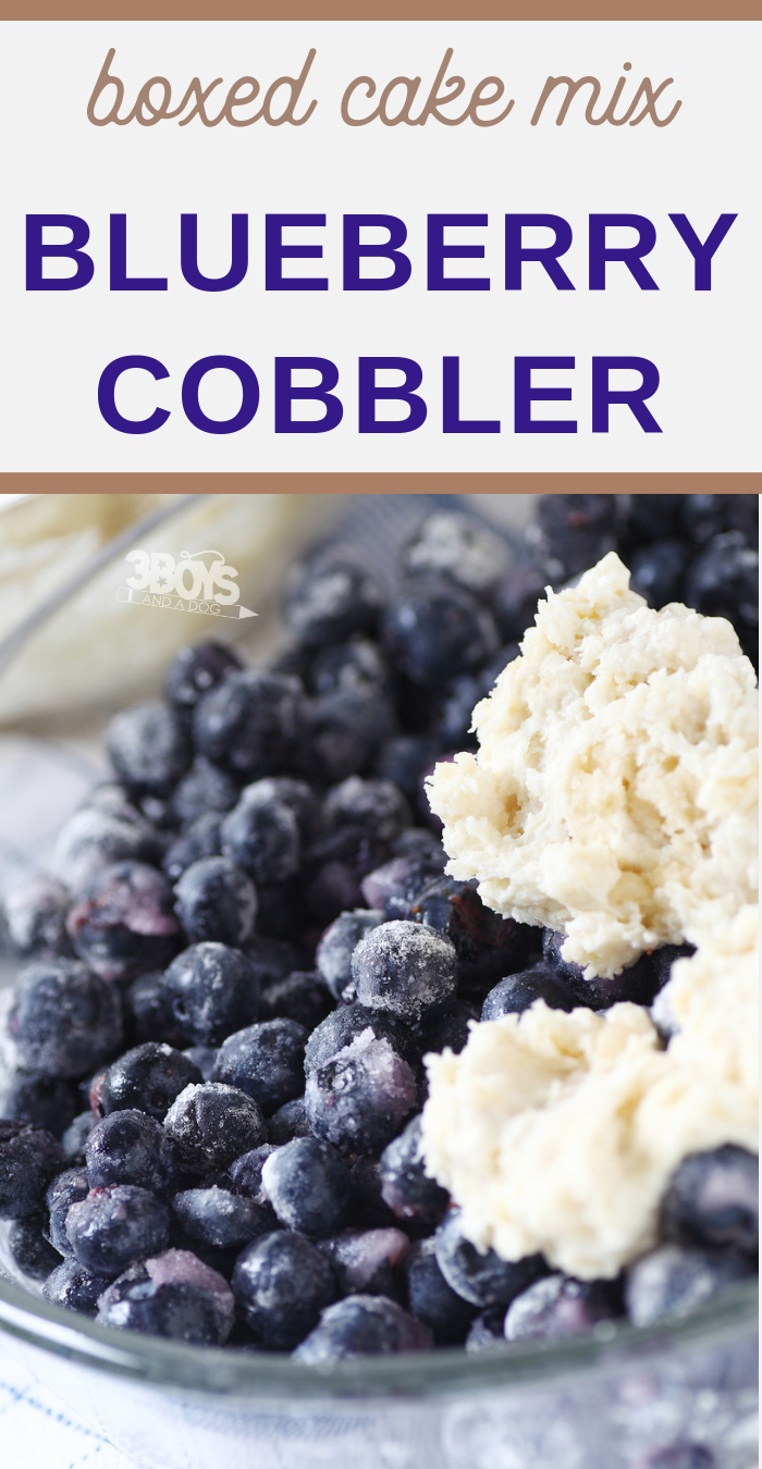 This is the easiest and most delicious blueberry cobbler you will ever make! No pie crusts! The crumble topping is made from a box of cake mix - seriously! is the easiest and most delicious blueberry cobbler you will ever make! No pie crusts! The crumble topping is made from a box of cake mix - seriously!