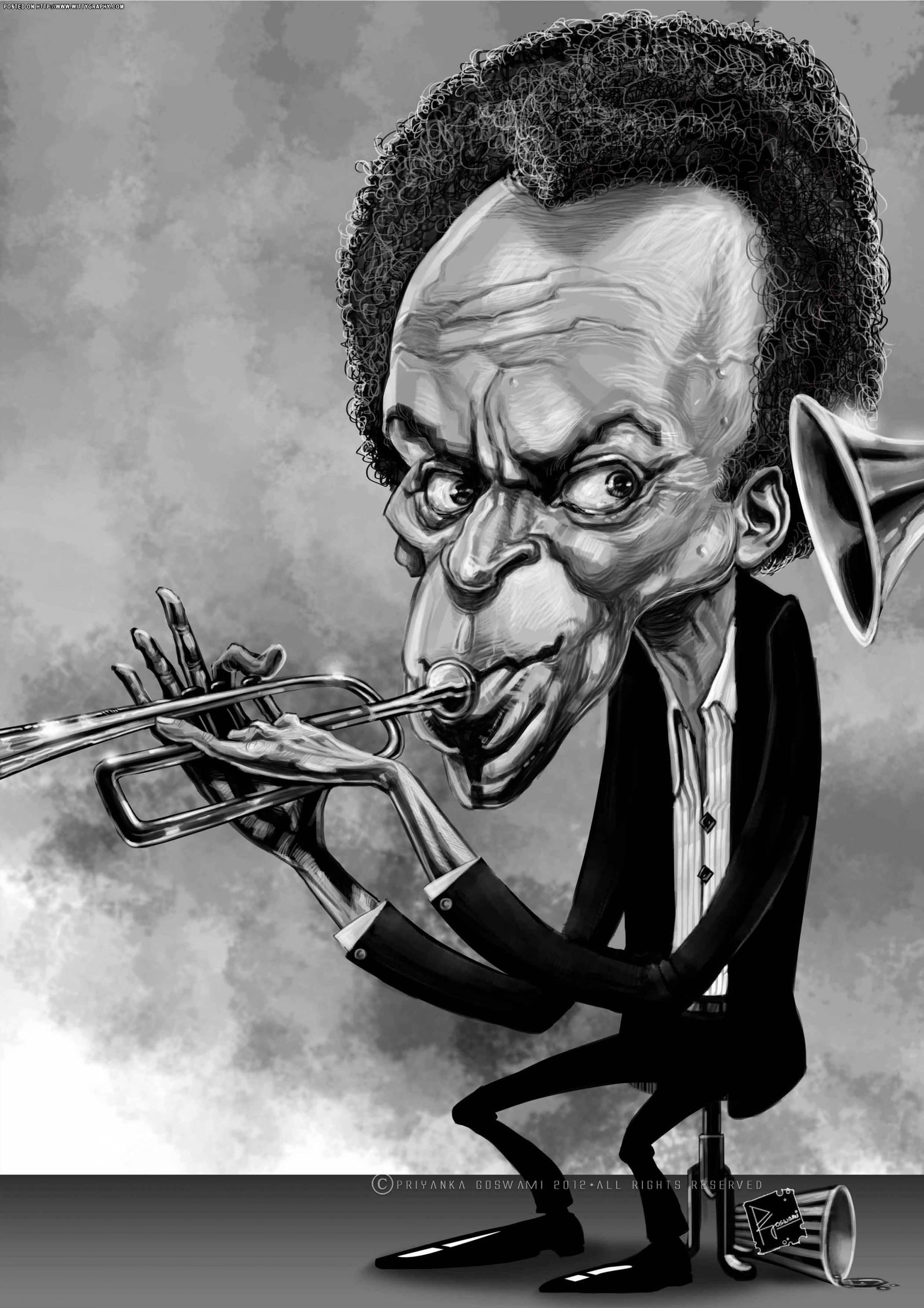 miles davis caricatures2 caricature jazz art