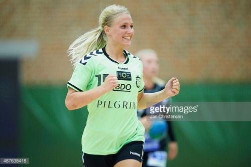 ARHUS, DENMARK - SEPTEMBER 09: Julie Pontoppidan of SK Aarhus... #vejlby: ARHUS, DENMARK - SEPTEMBER 09: Julie Pontoppidan of SK… #vejlby