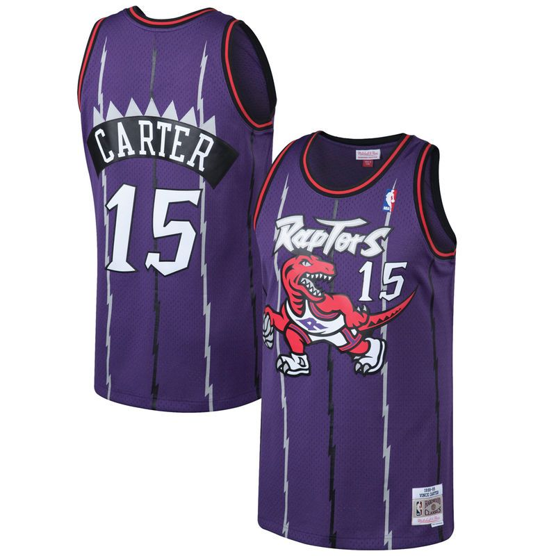 477035f9d Vince Carter Toronto Raptors Mitchell   Ness 1998-99 Hardwood Classics  Swingman Jersey - Purple