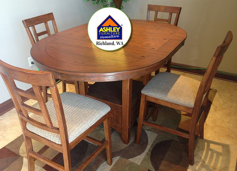 Cross Island Dining Room Set Table 4 Chairs Floor Model