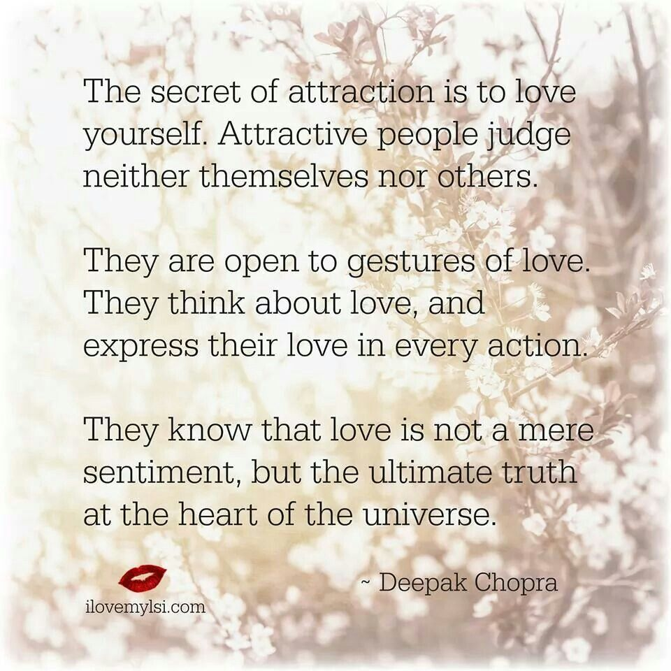 Love Attraction Quotes The Secret Of Attraction  Things I Like  Pinterest