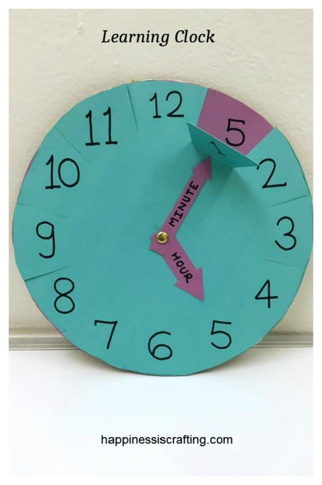 Learning Clock For Kids Learning Clock Clock For Kids Craft