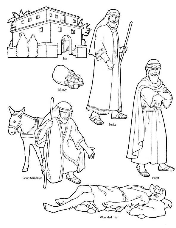 Good Samaritan Story Coloring Page