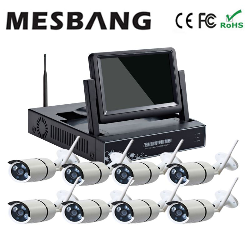Hot Mesbang 720p P2p Home Office Security Camera System Wifi Ip Kits 8ch