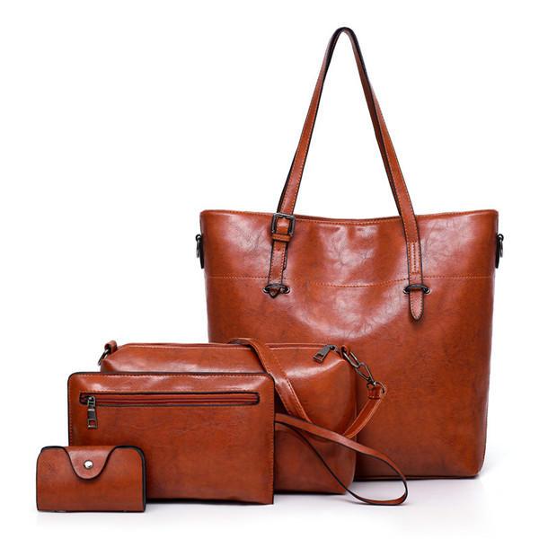 4ee3a3252e 4 PCS Women Handbag Multi-function Crossbody Bag - Banggood Mobile ...