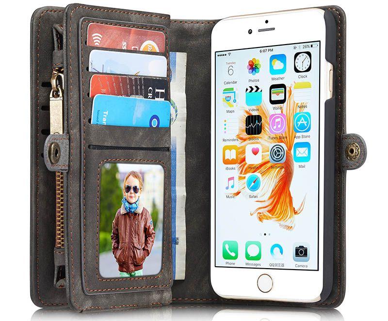 Caseme iphone 6 plus6s plus zipper wallet folio