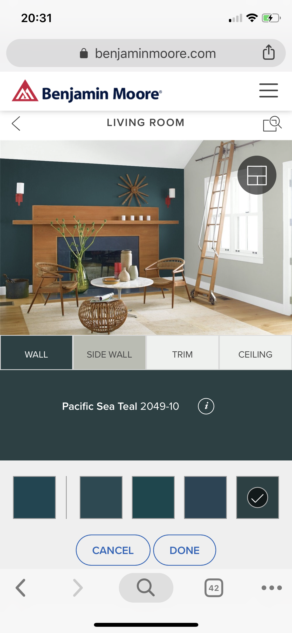 Benjamin Moore Pacific Sea Teal and Gray Horse. | Color ...
