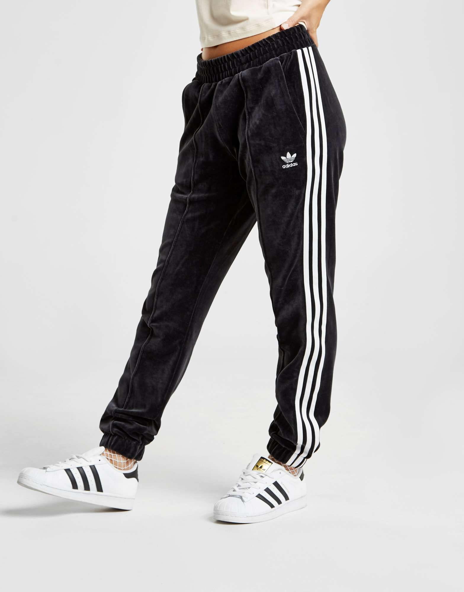adidas Originals 3-Stripes Velvet Track Pants - Shop online ...