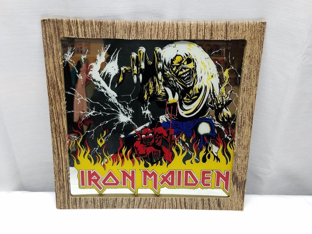 Vintage Iron Maiden Carnival Prize Mirror Glass Number Of The