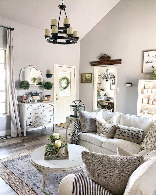 70 Elegant Modern Farmhouse Living Room Decor Ideas And Makeover images
