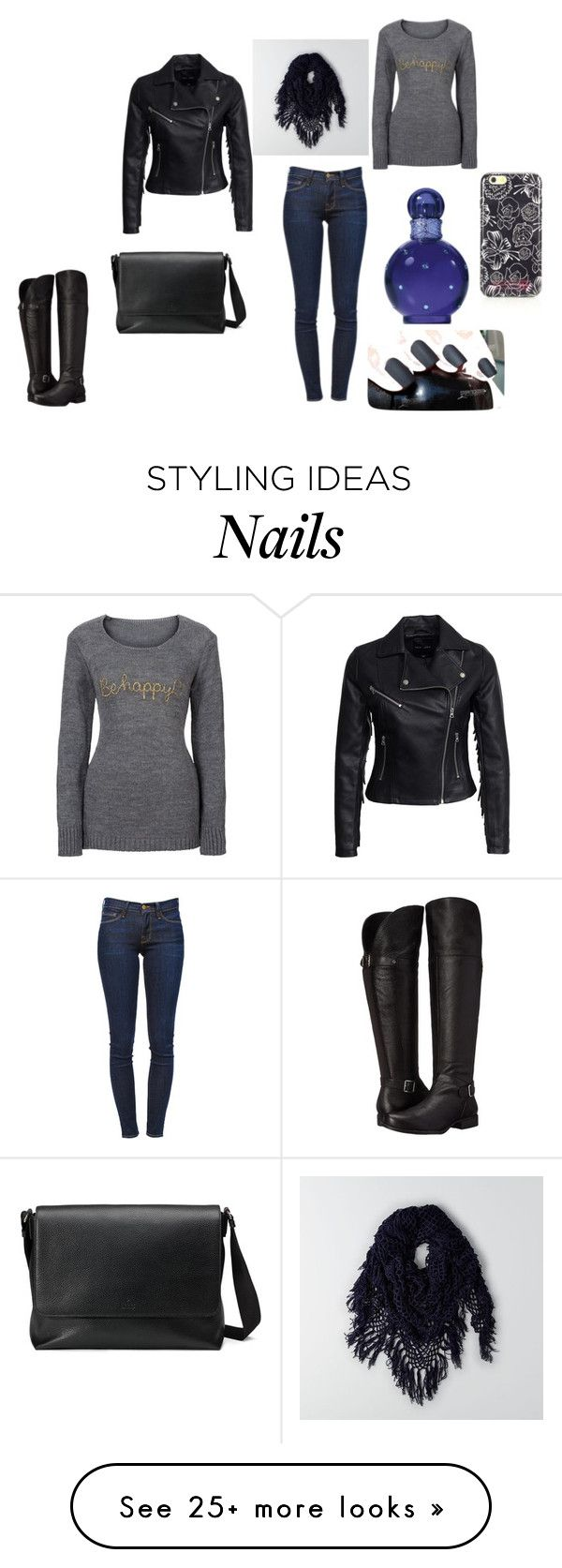 """""""Bez naslova"""" by velida-husic on Polyvore featuring New Look, Frame Denim, Naturalizer, Gucci, Marc by Marc Jacobs, American Eagle Outfitters and Britney Spears"""