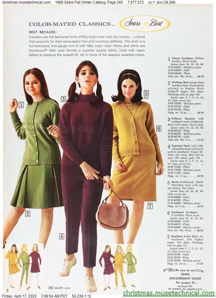 1966 Sears Fall Winter Catalog, Page 260 - Christm