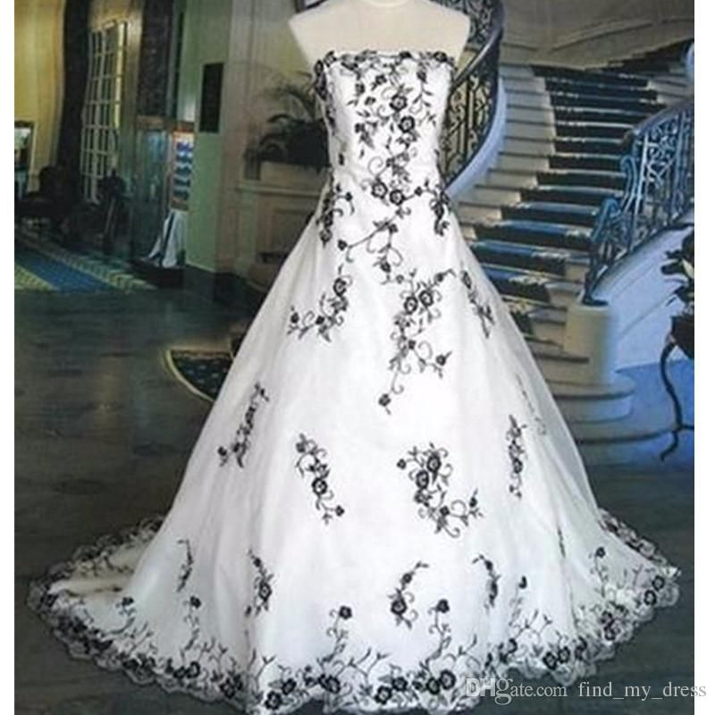 Discount New Design Us2 26w White And Black Bridal Gowns