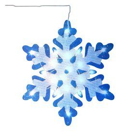 Northlight Impact Lighted Snowflake Hanging Outdoor Christmas Decoration With White Incandescent Lights