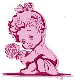 Baby girl 2 machine embroidery design