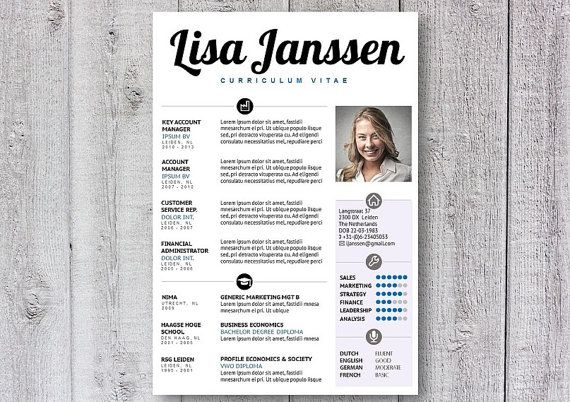 Resume Template  Cv Template  Creative Resume Design  Word