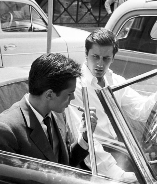 Alain Delon lighting a cigarette in a car beside Italian playboy Gianfranco Piacentini. Rome  sc 1 st  Pinterest & Alain Delon lighting a cigarette in a car beside Italian playboy ... azcodes.com