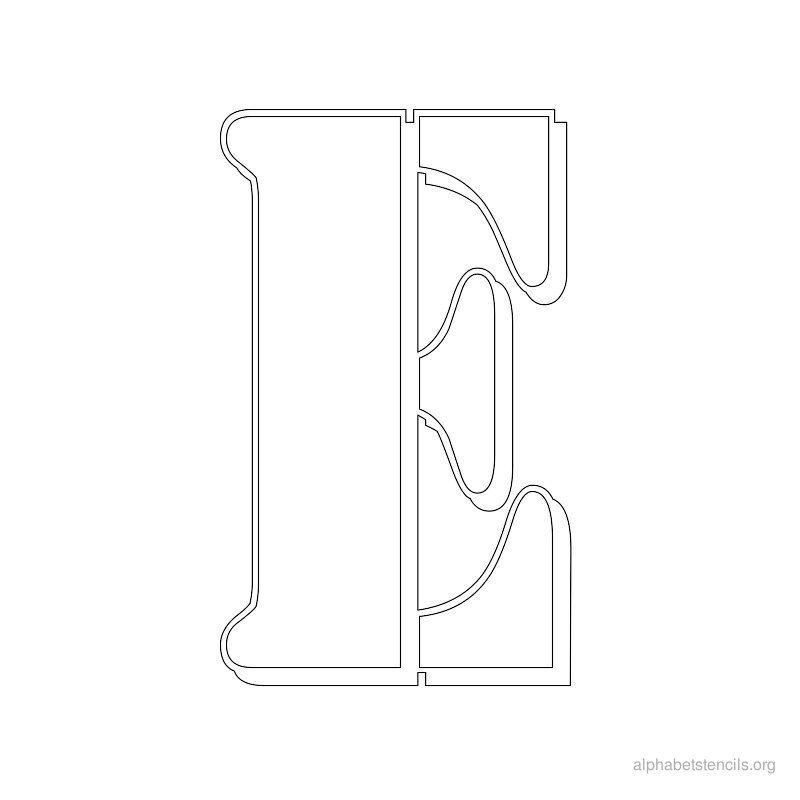 Print Free Alphabet Stencils Stencil E   Arts And Crafts
