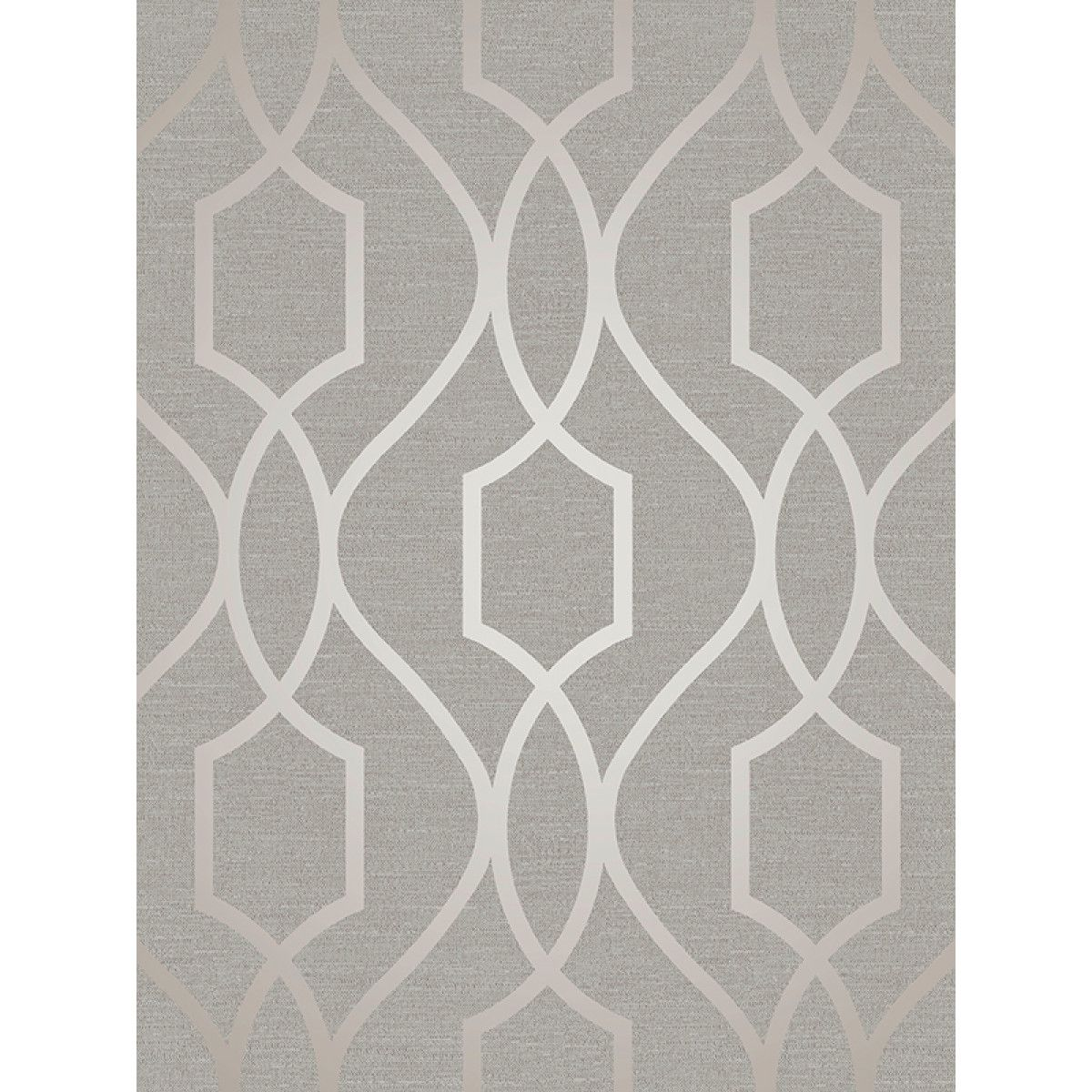 Apex Trellis Sidewall Wallpaper Copper: Apex Geometric Trellis Wallpaper Grey And Taupe Fine Decor